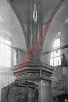 Bóżnica. Wnętrze. Fragment bimy. Widok z przed 1939 roku. Tykocin