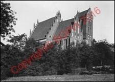 Kościół parafialny pw. Przemienienia Pańskiego. Widok od strony południowo-wschodniej z 1918 roku. Iława