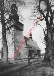 Kościół parafialny pw. św. Marii Magdaleny. Widok zewnętrzny z przed 1939 roku. Rabka