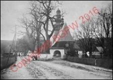 Kościół parafialny pw. św. Marii Magdaleny. Widok z przed 1939 roku. Rabka