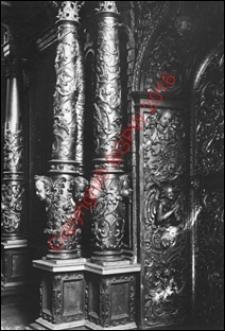 Cerkiew obronna Zwiastowania NMP. Wnętrze. Fragment ikonostatu. Widok z przed 1939 roku. Supraśl