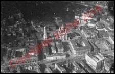 Panorama miasta z soborem św. Aleksandra Newskiego na placu Saskim. Widok z przed 1924 roku. Warszawa