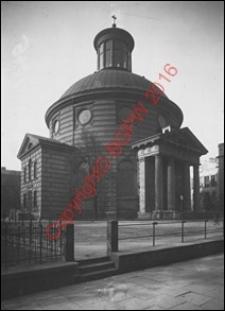 Kościół ewangelicko-augsburski św. Trójcy. Widok ogólny od strony pl. Małachowskiego z 1922 roku. Warszawa