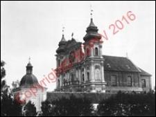 Kościół odpustowy pw. Nawiedzenia NMP i św. Józefa. Widok z 1894 roku. Krosno