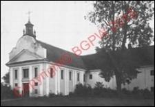 Zespół klasztorny Bernardynów. Widok z przed 1939 roku. Tykocin