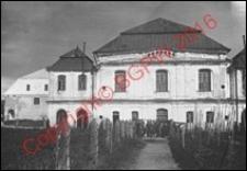 Bożnica. Widok od strony fasady frontowej z przed 1939 roku. Włodawa