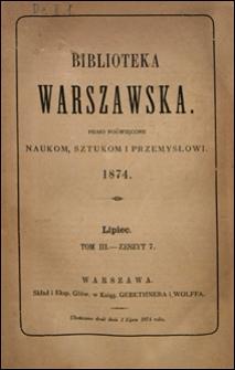 Biblioteka Warszawska 1874 t. 3