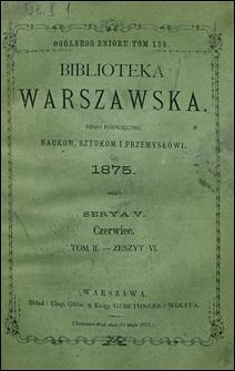 Biblioteka Warszawska 1875 t. 2 z. 6
