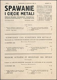 Spawanie i Cięcie Metali 1928 nr 12