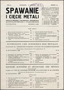Spawanie i Cięcie Metali 1929 nr 12