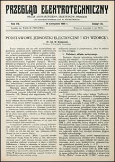 Przegląd Elektrotechniczny 1933 nr 22