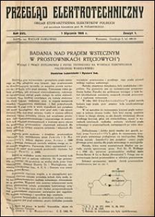 Przegląd Elektrotechniczny 1935 nr 1