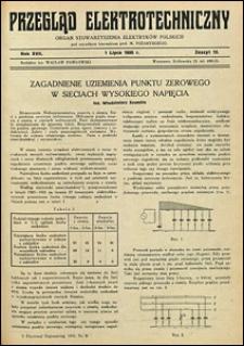 Przegląd Elektrotechniczny 1935 nr 5