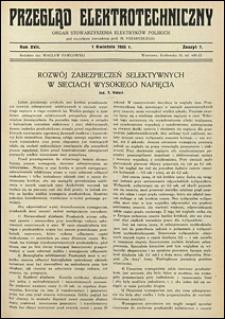 Przegląd Elektrotechniczny 1935 nr 22