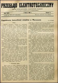 Przegląd Elektrotechniczny 1936 nr 5