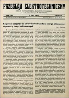 Przegląd Elektrotechniczny 1936 nr 14