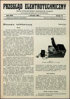 Przegląd Elektrotechniczny 1936 nr 15