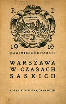 Warszawa w czasach saskich