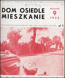 Dom, Osiedle, Mieszkanie 1935 nr 9