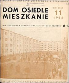 Dom, Osiedle, Mieszkanie 1935 nr 11