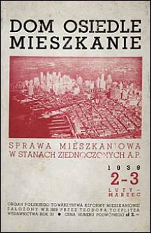 Dom, Osiedle, Mieszkanie 1939 nr 2-3