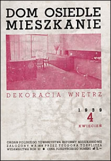 Dom, Osiedle, Mieszkanie 1939 nr 4