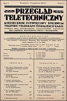 Przegląd Teletechniczny 1928 nr 8