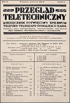 Przegląd Teletechniczny 1929 nr 4