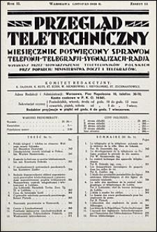 Przegląd Teletechniczny 1929 nr 11