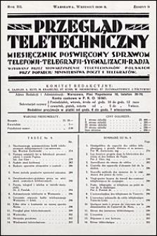 Przegląd Teletechniczny 1930 nr 9