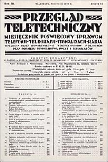 Przegląd Teletechniczny 1930 nr 12