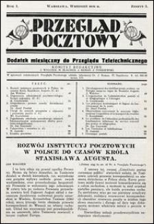 Przegląd Pocztowy 1931 nr 5. Dodatek do Przeglądu Teletechnicznego