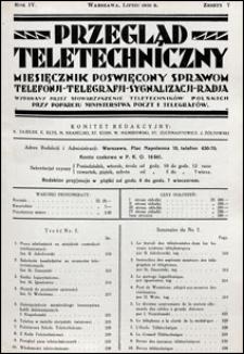 Przegląd Teletechniczny 1931 nr 7