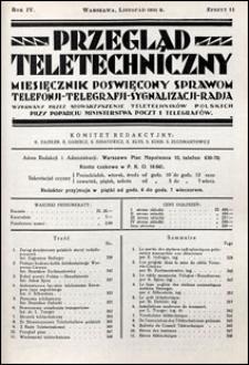 Przegląd Teletechniczny 1931 nr 11