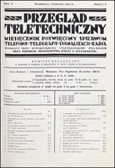 Przegląd Teletechniczny 1932 nr 6