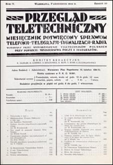 Przegląd Teletechniczny 1932 nr 10