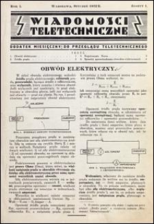 Wiadomości Teletechniczne 1932 nr 1