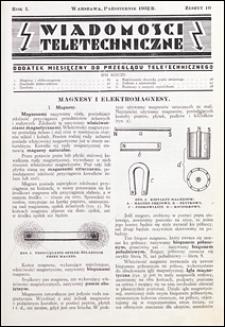 Wiadomości Teletechniczne 1932 nr 10