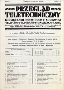 Przegląd Teletechniczny 1933 nr 1
