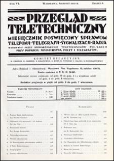 Przegląd Teletechniczny 1933 nr 8