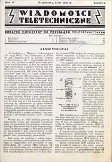 Wiadomości Teletechniczne 1933 nr 2