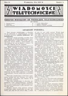 Wiadomości Teletechniczne 1933 nr 5