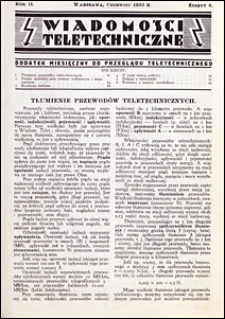 Wiadomości Teletechniczne 1933 nr 6