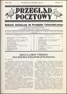 Przegląd Pocztowy 1933 nr 1