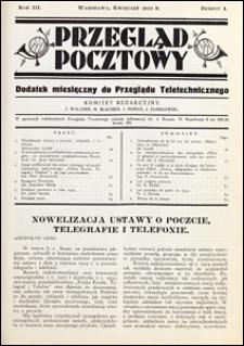 Przegląd Pocztowy 1933 nr 4