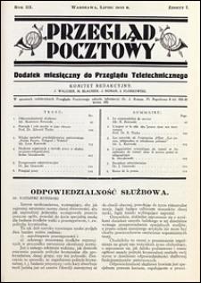 Przegląd Pocztowy 1933 nr 7