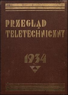 Przegląd Teletechniczny 1934 spis rzeczy