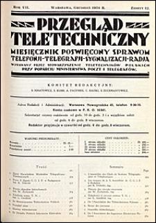 Przegląd Teletechniczny 1934 nr 12