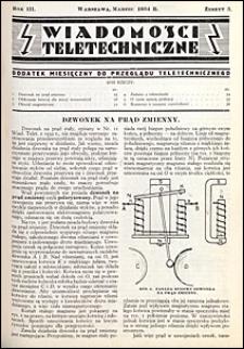 Wiadomości Teletechniczne 1934 nr 3
