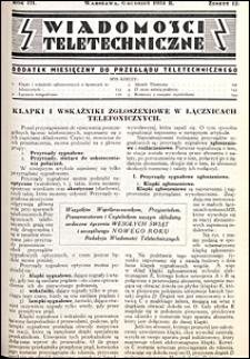 Wiadomości Teletechniczne 1934 nr 12